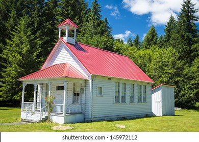 Old one-room rural school house in Oregon