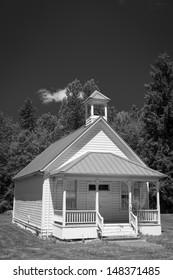 Old one-room rural school house in Oregon