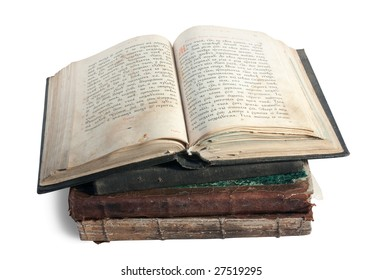 The old opened book is christian Psalter of 18st century