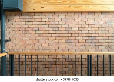 Old Orange brick wall background