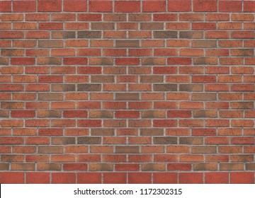 Old orange brick wall texture, masonry background
