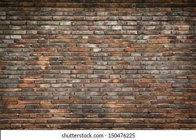 Old orange bricks wall background