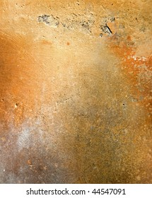 Old orange pottery surface texture