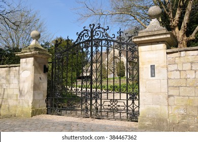 Old Ornate Gateway to an English Country Estate