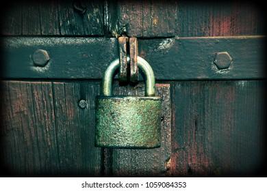 An old padlock