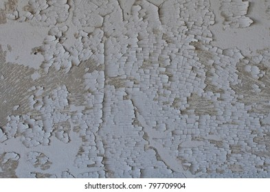 old paint in a wall