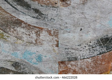 Old painted craced plywood. Grunge texture. vintage panels.
