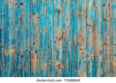 Old painted wooden wall