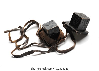 Old pair of jewish men objects for praying