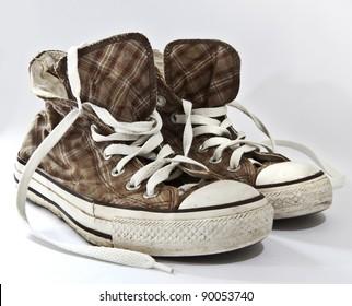 Old pair of sneakers