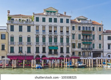 Old palace along Canal Grande in Venice, Italy, Europe