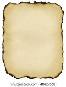 Old paper background with burnt edges
