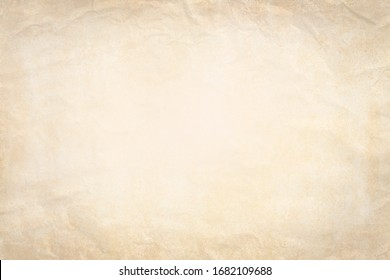 Old paper background with crumpled paper texture vintage retro newspaper empty blank space page with grunge stain line pattern for text creative, backdrop, wallpaper and any design - Shutterstock ID 1682109688