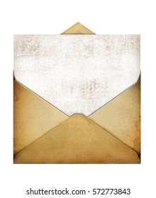 old paper envelope empty open photomanipulation