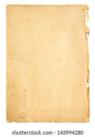 Old paper isolated on white background.