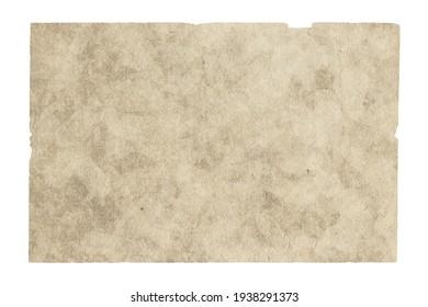 vieux papier isolé sur fond blanc avec chemin de détourage
