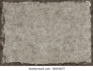 Old paper made to look like a stone tablet with a three-dimensional look and subtle crack lines.