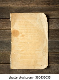 Old paper on old wood.