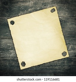 Old Paper on Wood Texture Background