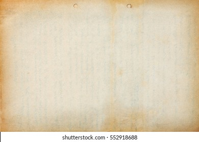 Old paper sheet with text imprint and dark borders