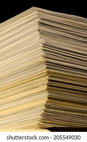 old paper stack - toned