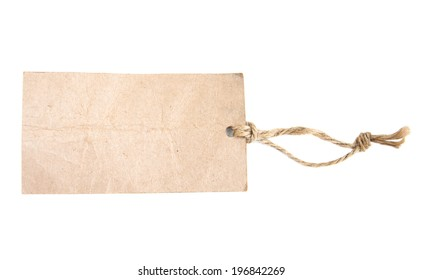 Old Paper Tags on a white background