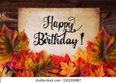 Happy Birthday Autumn Images Stock Photos Vectors Shutterstock