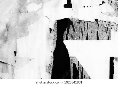 Old paper texture background creased crumpled ripped torn posters surface frame backdrop black white