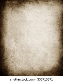 Old Paper Texture Background With Faded Central Area
