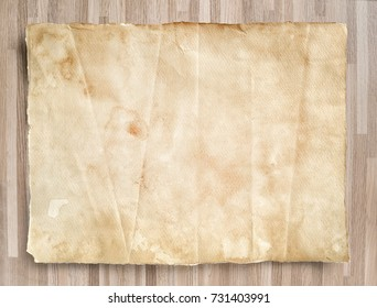 Old paper texture for background on wood texture.
