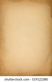 Old paper texture with crumpled dark borders and granular structure