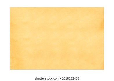 Old Paper texture isolated on white background on with clipping path.