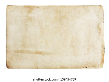 Old paper texture, isolated on white
