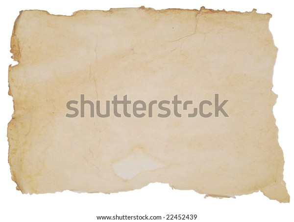Old Paper Texture Over White Background Stock Photo (Edit Now ...