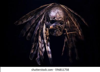 Old Papuan Tribal Skull