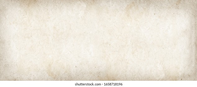 Old parchment paper texture background. Vintage wallpaper banner