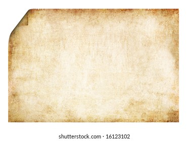 Old parchment with  rolled corners