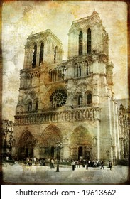 old Paris -vintage series - Notre dame