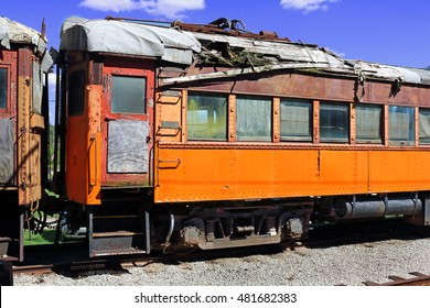 old passenger rail car