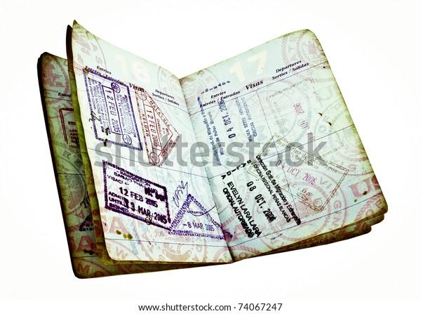old passport with visas