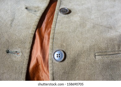 old pattern shirt brown velvet and circle two button