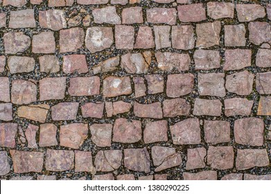 Old pavement on the street of Prague