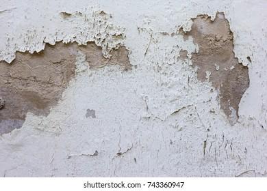 Old peeling paint wall