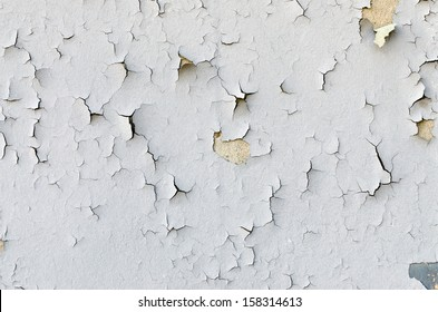 Old Peeling Painted Wall. Background