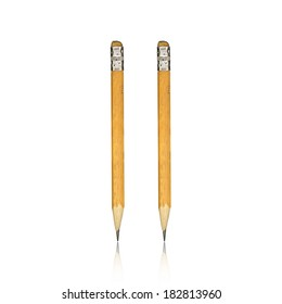 old pencil isolated on white background