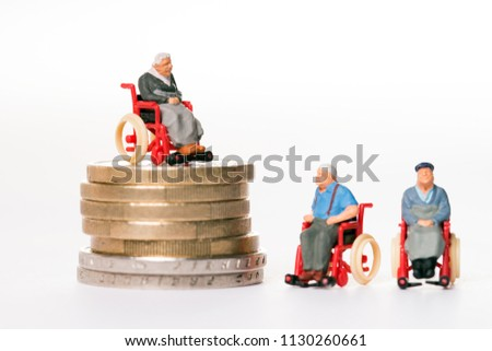 Image of: Manual Wheelchairs Old People In Wheelchairs And Coins Shanghai Wisking Electric Machine Co Ltd Alibaba Old People Wheelchairs Coins Stock Photo edit Now 1130260661