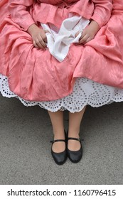 Old petticoat hand embroidered cotton under the dress