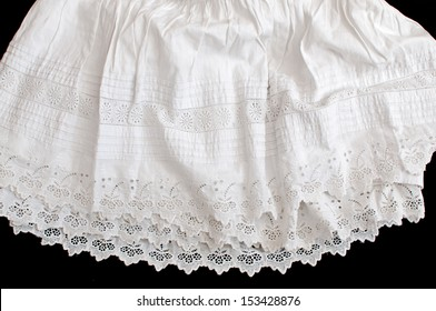 old petticoat hand embroidered cotton