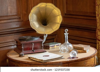 Old Phonograph on desk