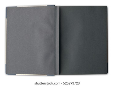old photo album - open book with blank pages